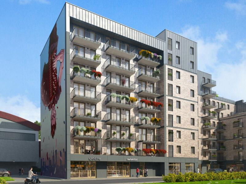 Budowa budynku mieszkalnego wielorodzinnego z usługami na parterze oraz infrastrukturą techniczną przy ul. Wrzesińskiej 6 w Warszawie