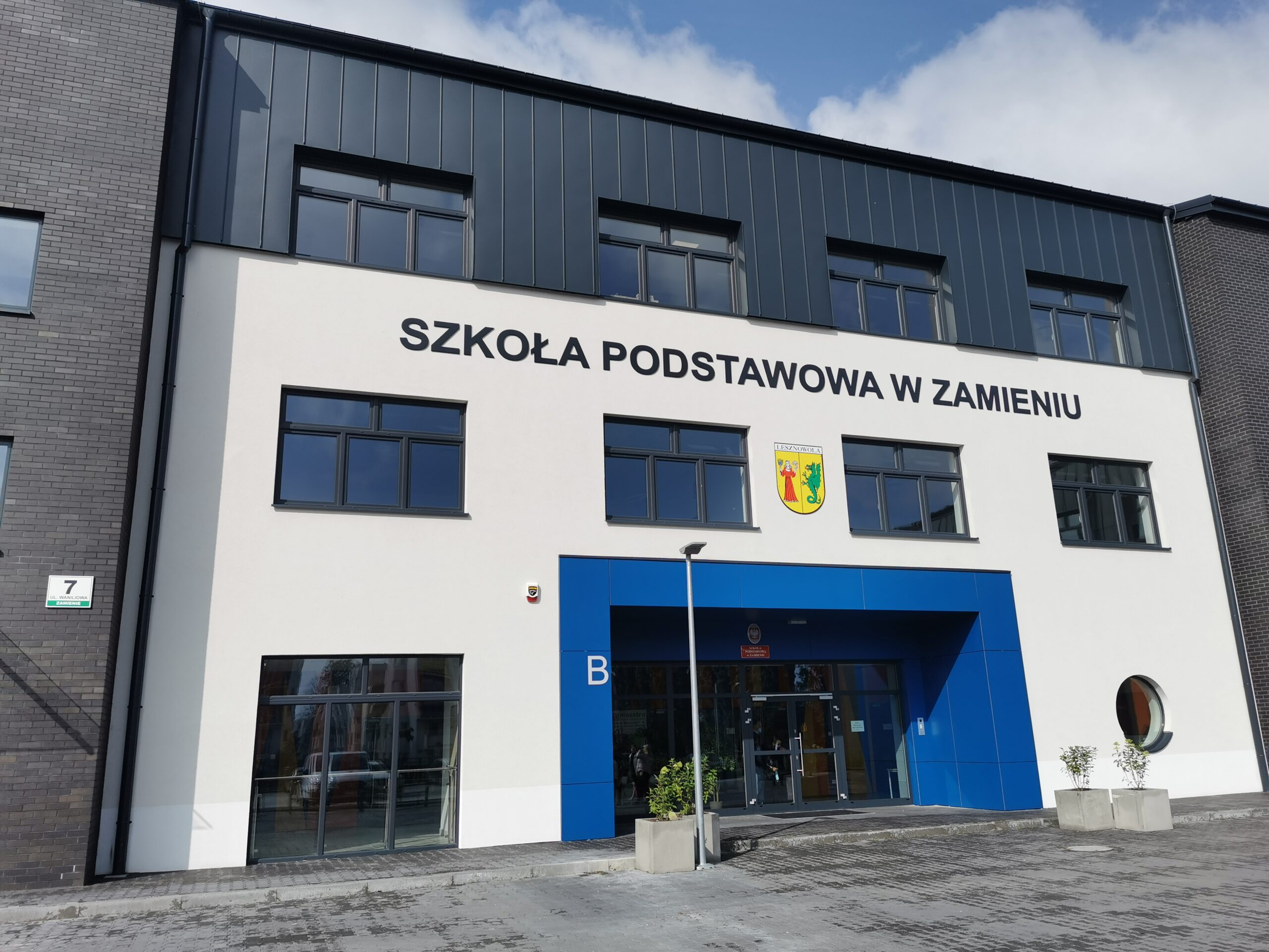 Zakończenie budowy Zespołu Szkół w Zamieniu gm. Lesznowola